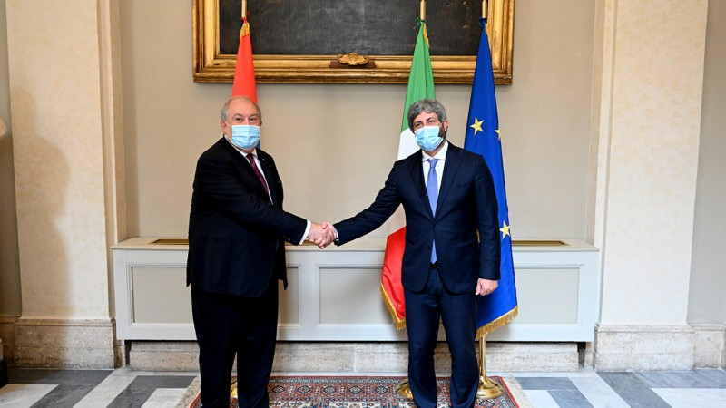 ՀՀ նախագահ Արմեն Սարգսյանը հանդիպել է Իտալիայի Պատգամավորների պալատի նախագահ Ռոբերտո Ֆիկոյի հետ (տեսանյութ)