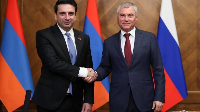 Ալեն Սիմոնյանը շնորհավորել է Վյաչեսլավ Վոլոդինին՝ ՌԴ ԴԺ Պետական դումայի նախագահի պաշտոնում վերընտրվելու կապակցությամբ