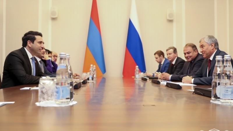 Ալեն Սիմոնյանը հանդիպել է ՌԴ պետդումայի նախագահ Վյաչեսլավ Վոլոդինի հետ (տեսանյութ)