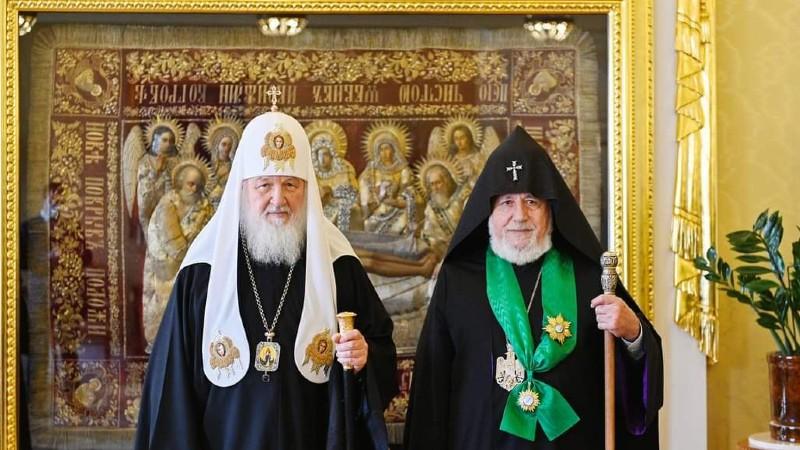 Ամենայն Հայոց Կաթողիկոսը հանդիպել է Մոսկվայի և Համայն Ռուսիո Պատրիարքի հետ