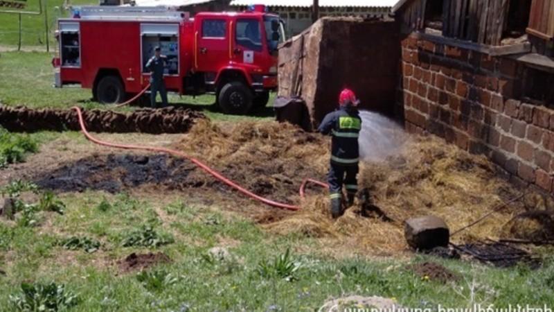 Ոսկետափ գյուղում հրդեհ է բռնկվել. ԱԻՆ