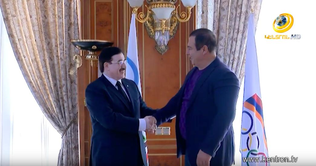 Գ. Ծառուկյանն ընդունել է Արաբական երկրների ըմբշամարտի ֆեդերացիայի նախագահին. ստորագրվել է հուշագիր (տեսանյութ)