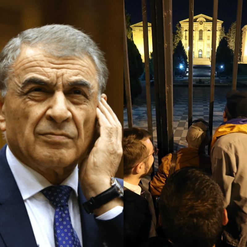 Հոկտեմբերի 2-ին, երբ մարդիկ վարչապետի հետ մտել են ԱԺ տարածք, Ա. Բաբլոյանը խուճապահար ցանկացել է հրաժարականի դիմում գրել. «Ժամանակ»