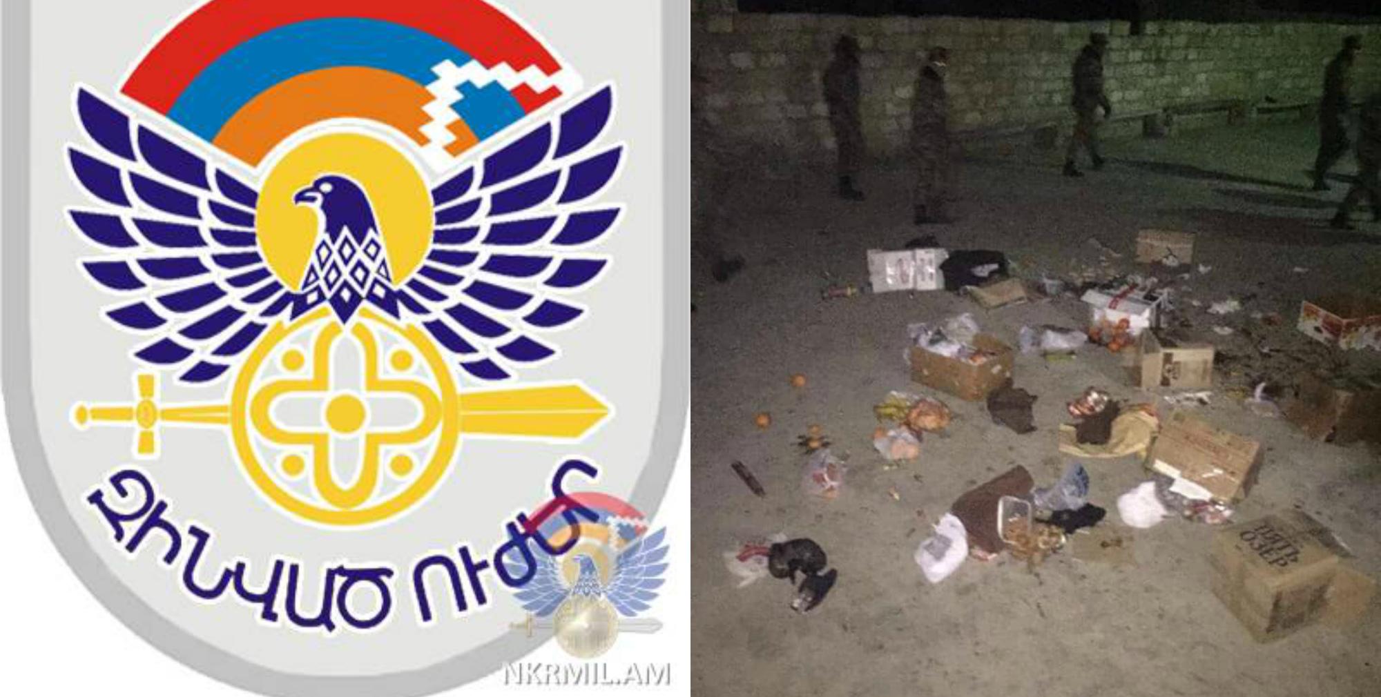 Ծանրոցներում եղել է ալկոհոլային խմիչք և փչացած սննդամթերք. Արցախի ՊԲ-ն՝ զինծառայողների սնունդը պատուհանից նետելու մասին