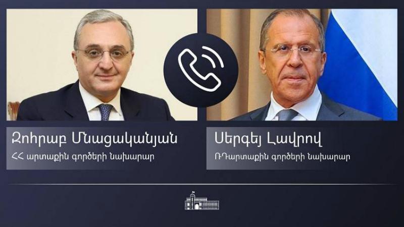 Զոհրաբ Մնացականյանն ու Սերգեյ Լավրովը հեռախոսազրույց են ունեցել