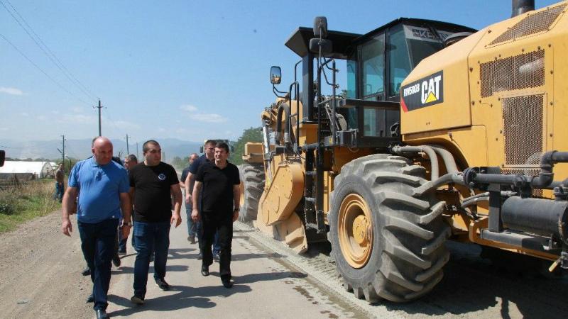 Արցախի նախագահը ծանոթացել է Ստեփանակերտ-Ասկերան մայրուղու վերանորոգման աշխատանքներին