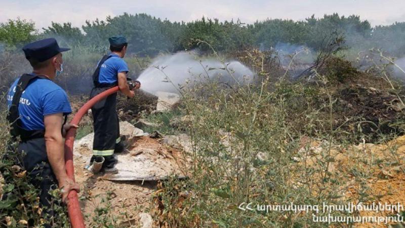 Հրշեջ-փրկարարները մարել են ընդհանուր 1․5 հա տարածքում բռնկված հրդեհները. ԱԻՆ