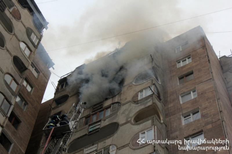 Նար-Դոսի փողոցի բնակարաաններից մեկում հրդեհ է բռնկվել