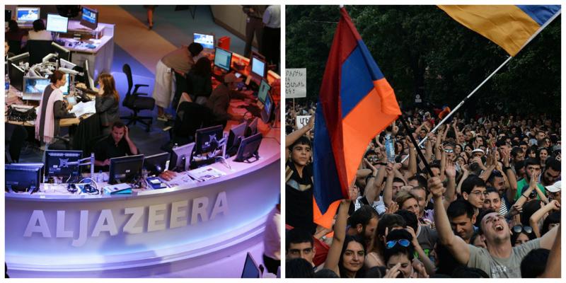 Արաբական Al Jazeera-ն վավերագրական ֆիլմ է պատրաստում Հայաստանում  թավշյա հեղափոխության մասին
