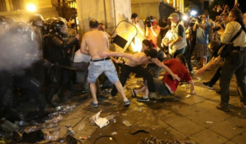 Թբիլիսիում տեղի ունեցած բողոքի ակցիաների ընթացքում 240 մարդ Է տուժել