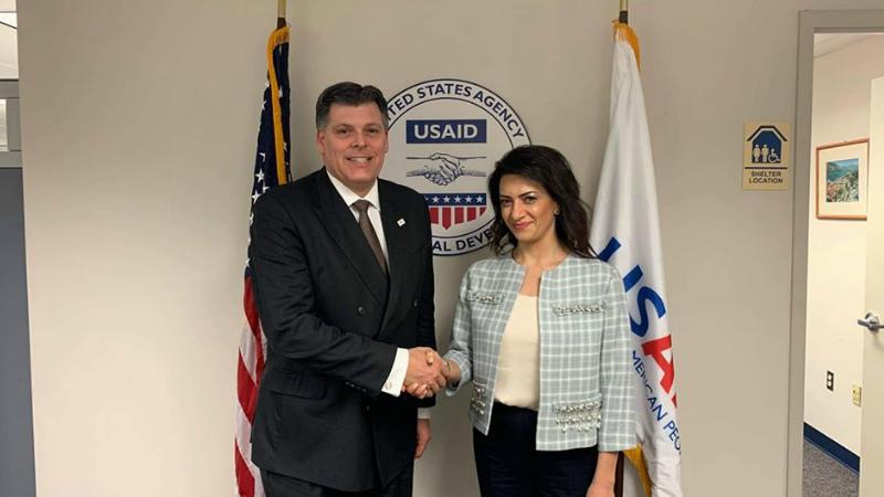 Աննա Հակոբյանը Վաշինգտոնում հանդիպում է ունեցել ԱՄՆ Միջազգային զարգացման գործակալության Եվրոպայի և Ասիայի հարցերով բյուրոյի աշխատակազմի ղեկավարի տեղակալի հետ