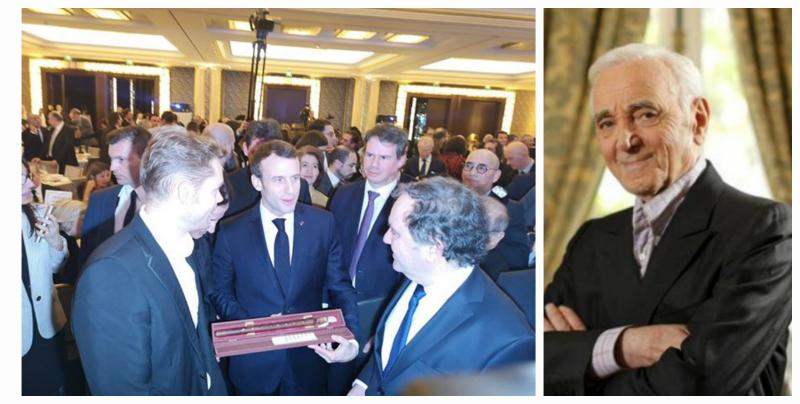 Ազնավուրի որդին դուդուկ է նվիրել Ֆրանսիայի նախագահին