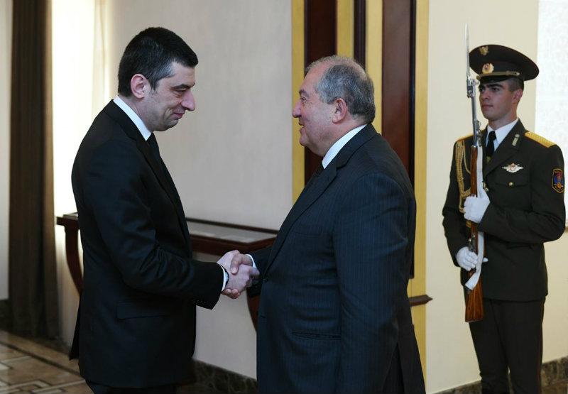 ՀՀ նախագահը հյուրընկալել է Վրաստանի վարչապետին
