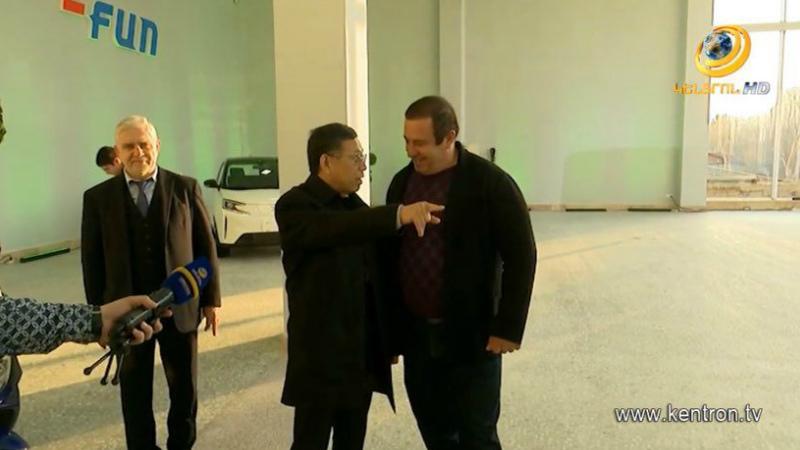 Գ.Ծառուկյանը ներկա է գտնվել չինական «Քինգ Լոնգ» ընկերության ավտոսրահի բացմանը