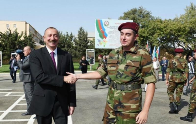 Հեյդար Ալիևի որդին զինվորական ծառայության է անցել Ադրբեջանի արևելյան զորամասերից մեկում