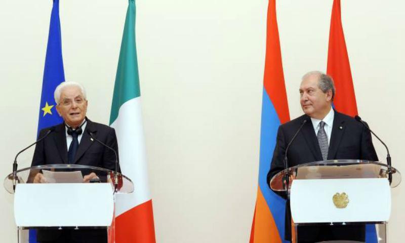 Նախագահ Արմեն Սարգսյանը շնորհավորական ուղերձ է հղել Իտալիայի Հանրապետության նախագահ Սերջիո Մատարելլային