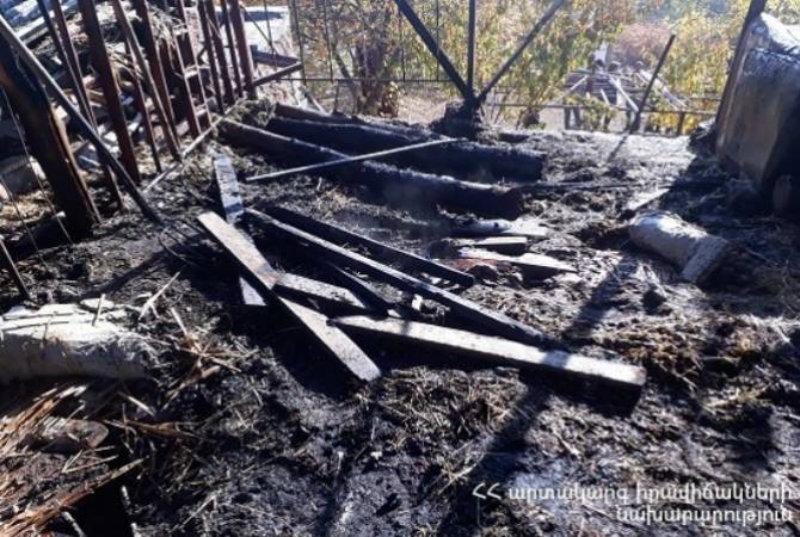 Բյուրականում անասնագոմի տանիք և մոտ 200 հակ անասնակեր է այրվել