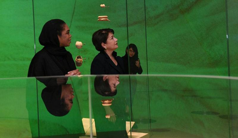 Նախագահի տիկին Նունե Սարգսյանն այցելել է Կատարի ազգային թանգարան