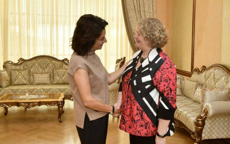 Աննա Հակոբյանը հյուրընկալել է «Շարիտե» մանկական ուռուցքաբանության և հեմատոլոգիայի կլինիկայի տնօրենին