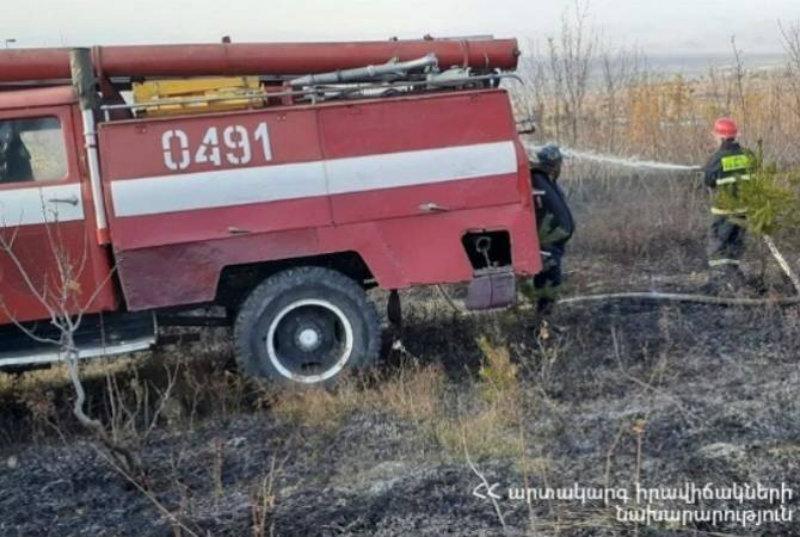 Հրշեջները մարել են խոտածածկ տարածքներում բռնկված հրդեհները