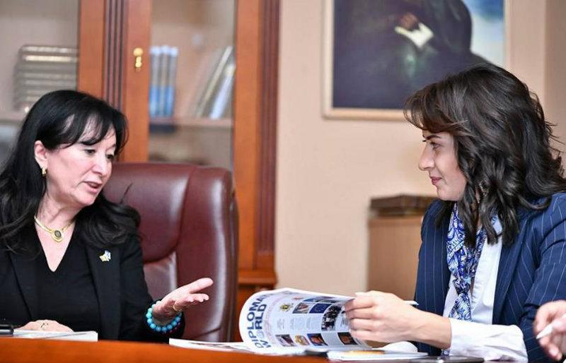 Աննա Հակոբյանը հարցազրույց է տվել Diplomatic world եվրոպական հեղինակավոր ամսագրին
