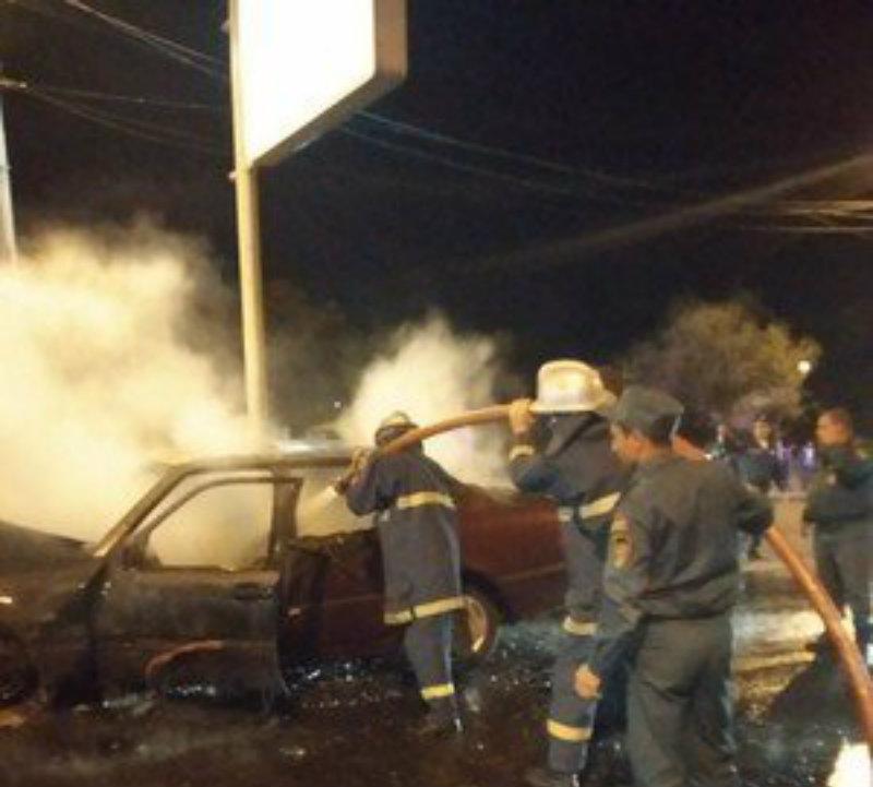 Լենինգրադյան փողոցում վթարից հետո «Մերսեդեսը» բռնկվել ու մոխրի է վերածվել
