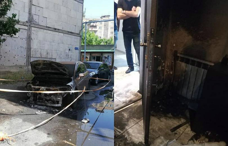 Հրկիզել են Աբովյանի քաղաքապետի ՔՊ-ական թեկնածուի շտաբներից մեկի պետի ավտոմեքենան ու բնակարանը