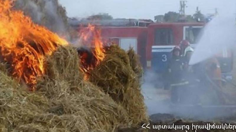 Ծաղկաշեն գյուղում այրվել է մոտ 500 հակ անասնակեր