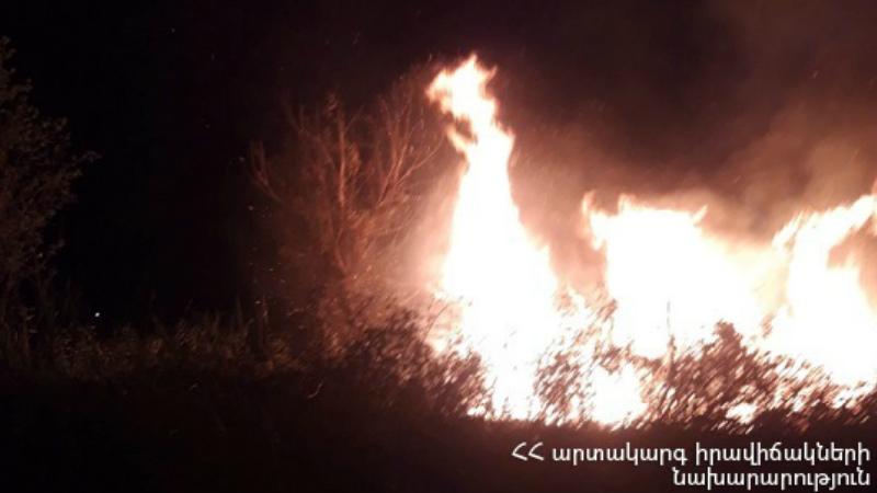 «Սուրբ Աստվածամայր» ԲԿ-ի ետնամասում այրվել է մոտ 1․5 հա խոտածածկույթ