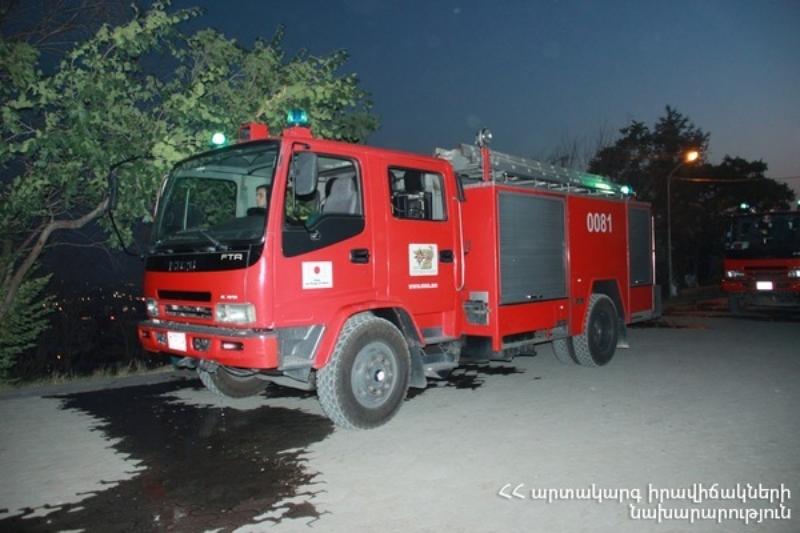 Հրշեջ-փրկարարները Մխչյան գյուղում մարել են ավտոմեքենայում բռնկված հրդեհը