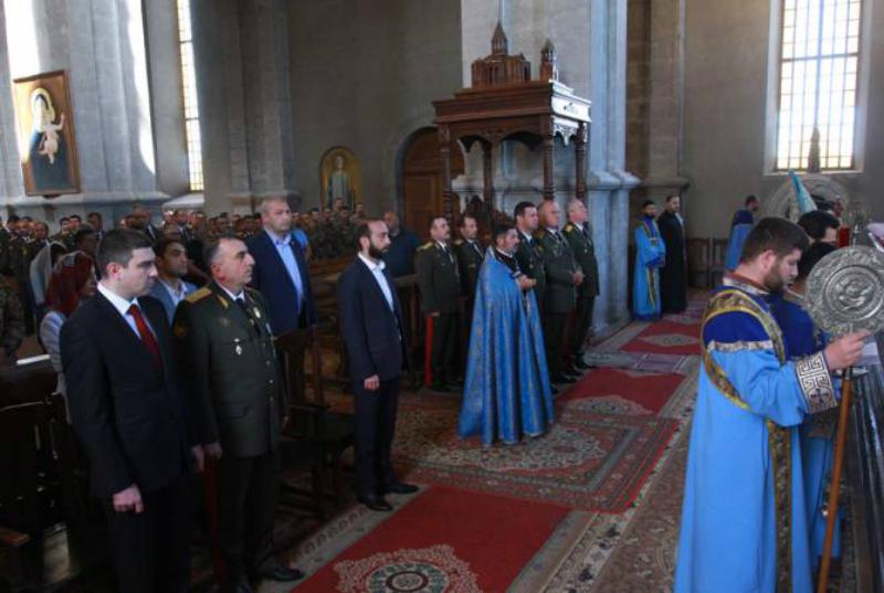 «Ղազանչեցոց Ամենափրկիչ» եկեղեցում զինվորականներին նվիրված պատարագ է մատուցվել