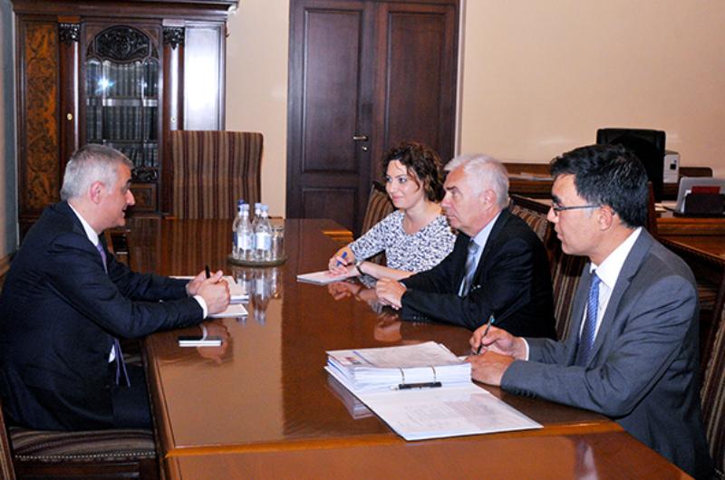 Մհեր Գրիգորյանը ԵՄ պատվիրակության ղեկավարի հետ քննարկել է ՀՀ-ԵՄ հարաբերությունների օրակարգային հարցերը