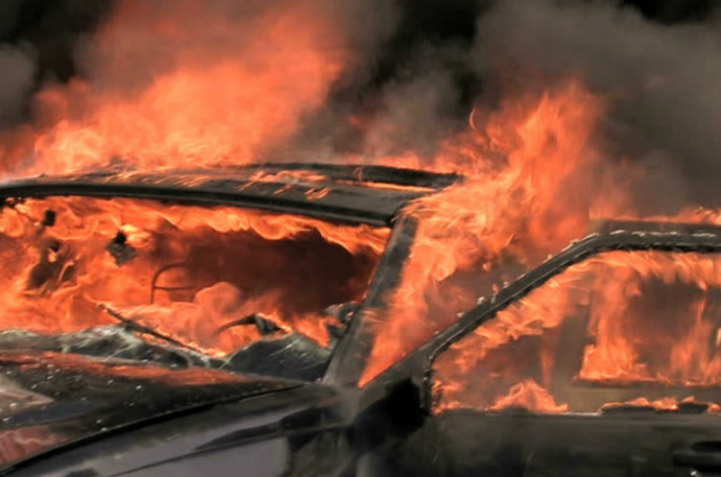 Հաղթանակ գյուղում Toyota-ն ամբողջությամբ այրվել է
