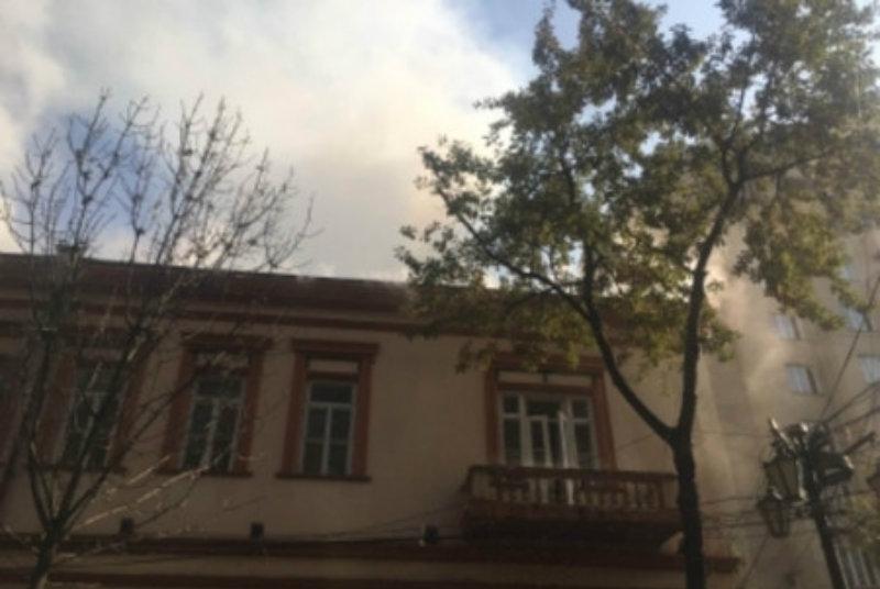 «Դոլմամա» ռեստորանի տանիքում բռնկված հրդեհը մարվել է