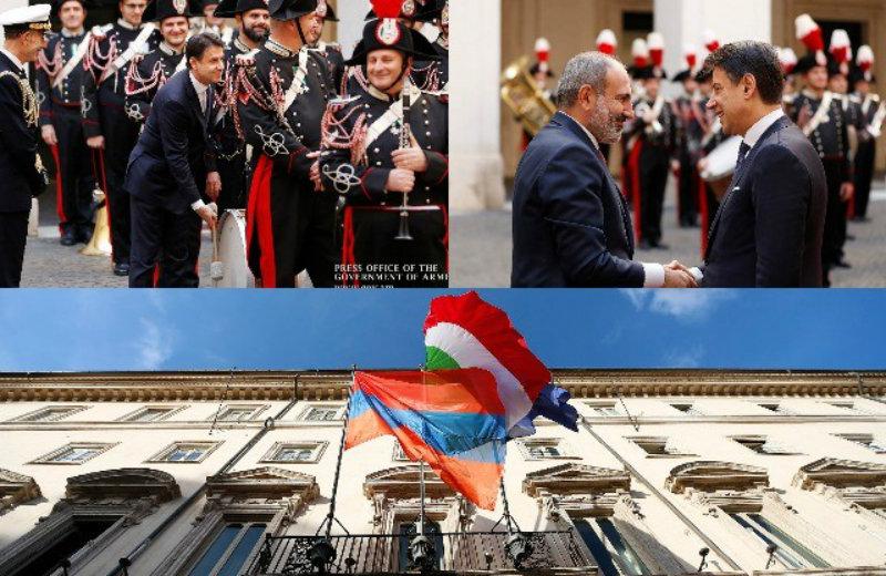 ՀՀ վարչապետի Իտալիա այցի ուշագրավ դրվագները, Իտալիայի վարչապետի հարբուխն ու Սենատի նախագահի ուշացումը (լուսանկարներ)