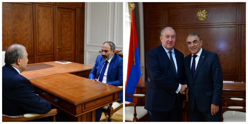 ՀՀ նախագահը հանդիպել է վարչապետի և ԱԺ նախագահի հետ