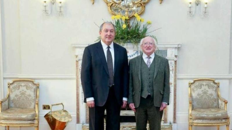 Արմեն Սարգսյանը շնորհավորական ուղերձ է հղել Իռլանդիայի նախագահին