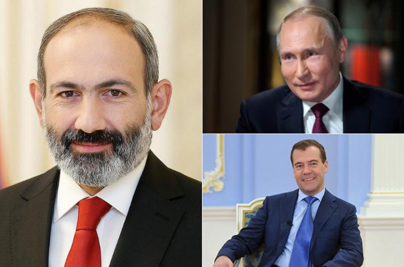 ՀՀ վարչապետին ծննդյան օրվա առթիվ շնորհավորել են ՌԴ նախագահ Վլադիմիր Պուտինը և վարչապետ Դմիտրի Մեդվեդևը