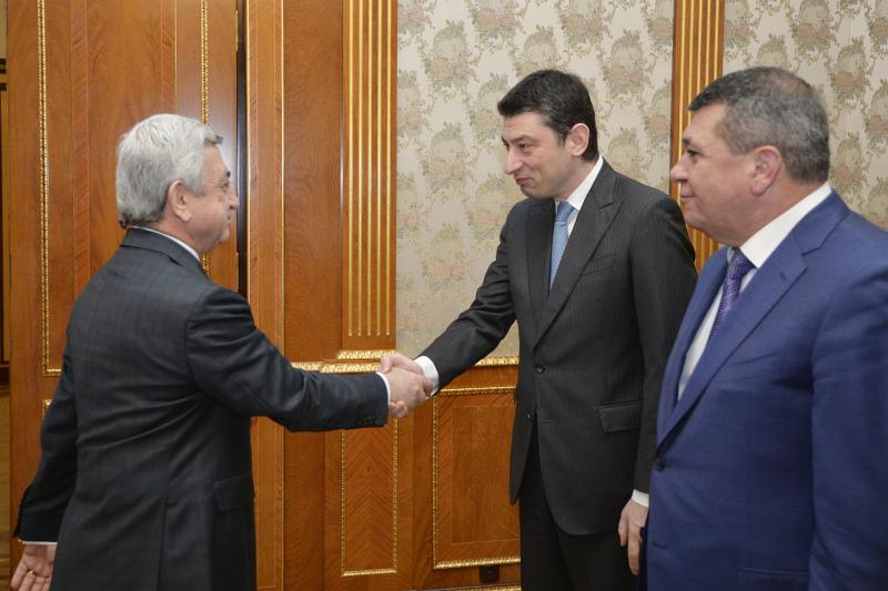 Նախագահն ընդունել է Վրաստանի փոխվարչապետ, ՆԳ նախարար Գիորգի Գախարիային