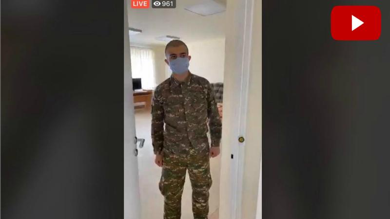 Շուշան Ստեփանյանն այցելել է զինծառայողների մեկուսացման վայր. ուղիղ
