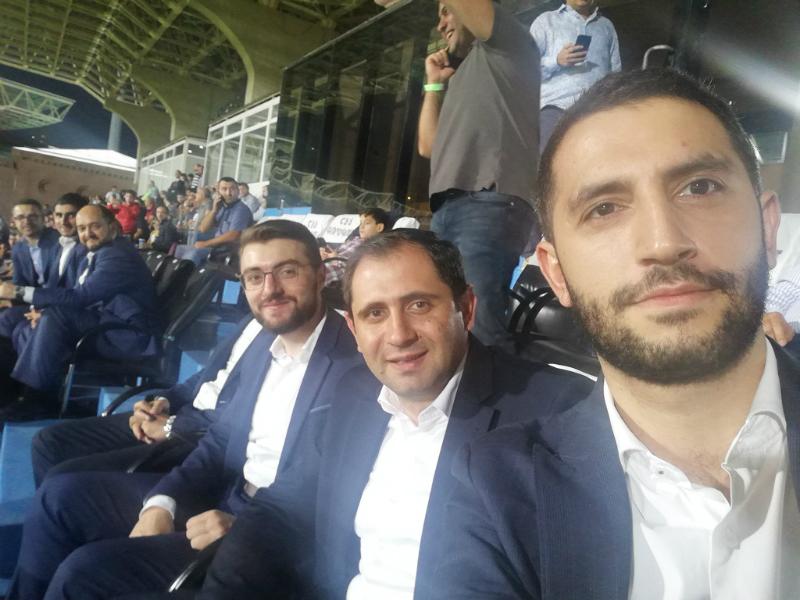 ՔՊ-ականները մարզադաշտից հետևում են Հայաստան-Իտալիա ֆուտբոլային խաղին