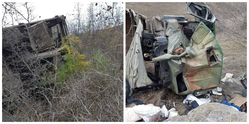 ՔԿ-ն լուսանկարներ է հրապարակել 4 զինծառայողի մահվան պատճառ դարձած ավտովթարի վայրից