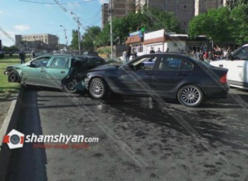 Բախվել է 6 մեքենա. խոշոր և շղթայական Երևանում