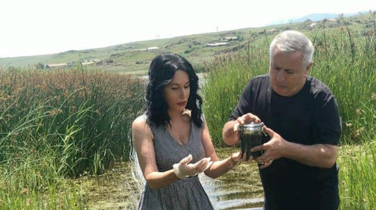 Սևանի ճահճացած հատվածից վերցրինք կապտականաչավուն ջրիմուռների և ջրի փորձանմուշ․ Ն. Զոհրաբյան