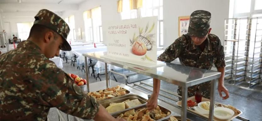 Թվով 11-րդ զորամասն անցավ զինվորների սննդի կազմակերպման նոր համակարգին (տեսանյութ)