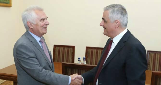 Փոխվարչապետ Մհեր Գրիգորյանն ընդունել է ԵՄ պատվիրակության ղեկավար Պյոտր Սվիտալսկիին