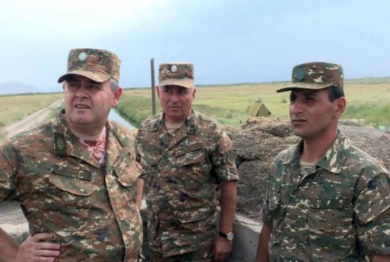 ՀՀ ԶՈՒ ԳՇ պետը այցելել է հարավ-արևելյան սահմանագոտի