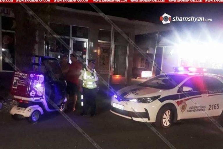 Մասիսում բախվել են մոպեդն ու Mercedes-ը. Menu.am-ի առաքիչն ու «Մասիս-Տոբակոյի» աշխատակիցը հիվանդանոցում են
