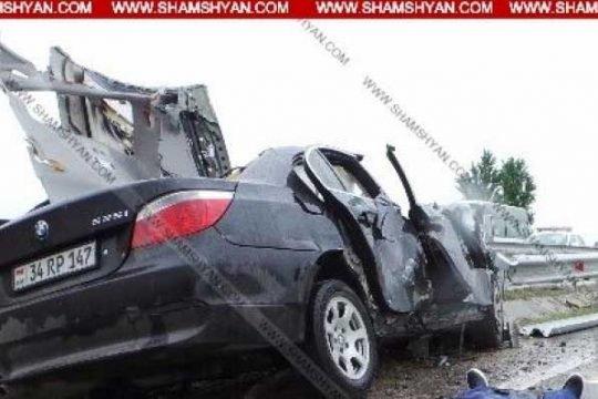 Բարձրաշենում 29-ամյա տղամարդը «BMW»-ով վթարի է ենթարկվել. մեքենայում գտնվող մանկահասակ երեխան մահացել է