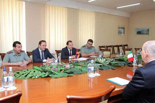 Քննարկվել են հայ-իտալական պաշտպանական համագործակցության օրակարգային հարցեր